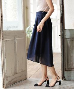 【セットアップ対応】アイリッシュリネン ギャザースカート