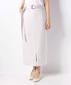 【セットアップ対応商品】レーヨンナイロンポンチハイウエストスカート