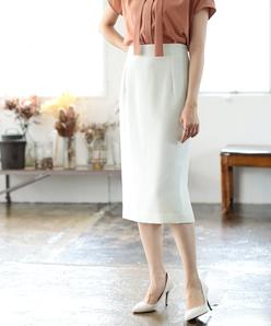 【セットアップ対応/洗える】リネンフェイス スカート