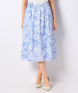 【セットアップ対応】【洗える】花柄プリントカノコ スカート