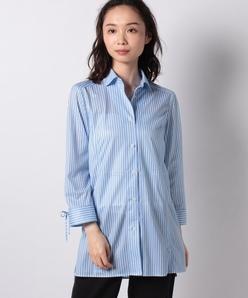 【洗える】プリントメッシュシャツ