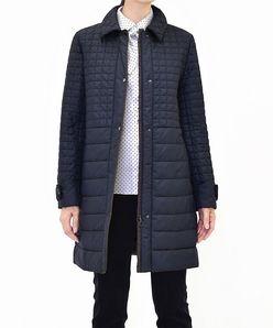 【大きいサイズ】カラータフタ キルティングコート
