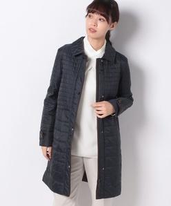 カラータフタキルティングコート