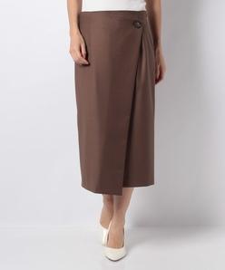 ギャバストレッチラップ風スカート