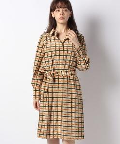 格子柄プリントドレス