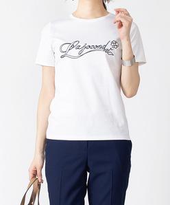 【洗える】スーピマスムースエンブロイダリーTシャツ