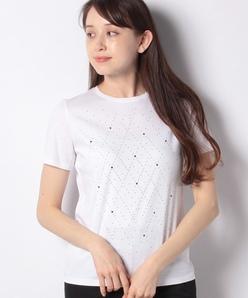 【洗える】スーピマスムースラメTシャツ