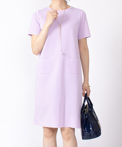 【セットアップ対応】コンパクトコットンニットドレス