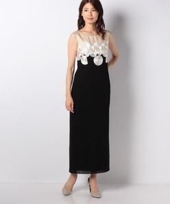 コード刺繍ロングドレス