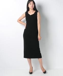 ダブルクレープ ドレス