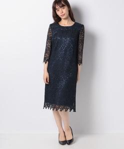 【フォーマル】フラワーレース ドレス