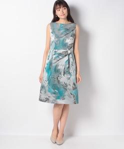【アンサンブル対応】マーブルジャカードドレス