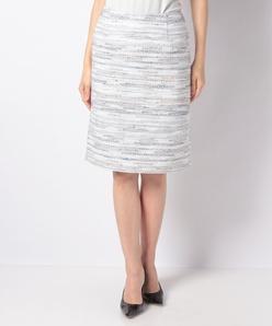 【セットアップ対応】コットンカラーミックスツィード スカート