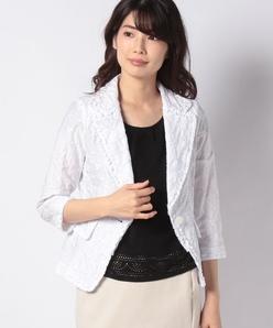 コットンシャーリング刺繍 ジャケット