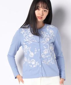 【アンサンブル対応】ARINA 花柄刺繍カーディガン