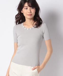 【アンサンブル対応】ARINA カギ針編みモチーフ プルオーバー