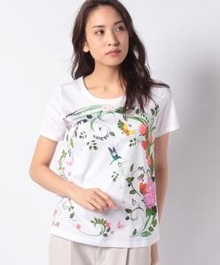 【40周年記念】フローラルパネルプリント コットン天竺/Tシャツ