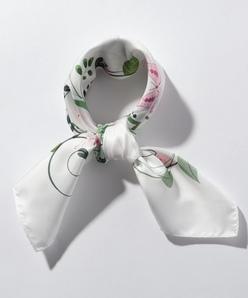 【40周年記念】フローラルパネルプリント スカーフ