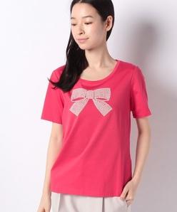 【洗える】リボンモチーフTシャツ