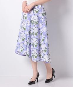 オリジナルプリントスパンビエラ/フィッシュテールスカート