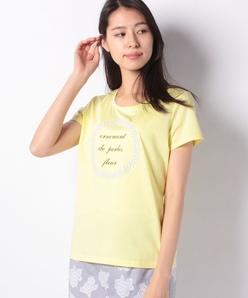 【洗える】ストーン付きプリントTシャツ