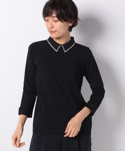 ARINA 刺繍襟プルオーバー