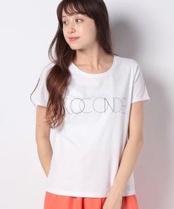 【洗える】コットン天竺/ロゴプリントTシャツ