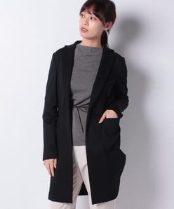 【セットアップ対応】ロングテーラードジャケット/ウール混ストレッチポンチ