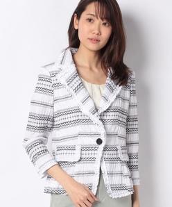 シャーリング刺繍 ジャケット