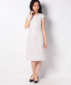 【セットアップ対応】 ファンシーツィード ドレス
