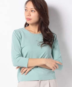 ARINA ビーズ刺繍 ニットプルオーバー