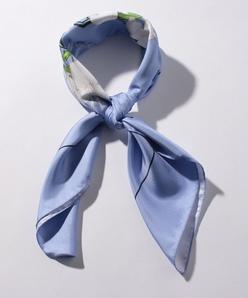 フローラルプリントツイル スカーフ