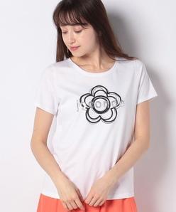 【洗える】 コットン天竺 ロゴTシャツ