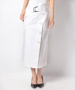 ハイウエストロングタイトスカート/超長綿ツイル