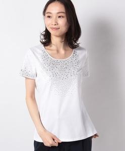 【洗える】ストーンTシャツ/コットン天竺