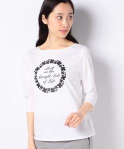 【洗える】コットン天竺 七分袖Tシャツ