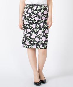 ボタニカルフラワープリント スカート