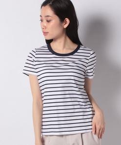 【アンサンブル対応】コンパクトコットンクールローレル天竺 クールネックTシャツ