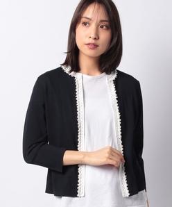 【アンサンブル対応】SONA かぎ針ビーズ刺繍ニットカーディガン