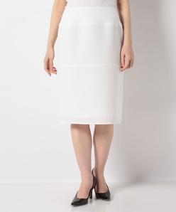 ストレッチツイル 切り替えタイトスカート