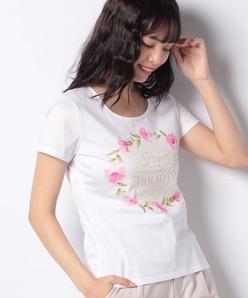 【洗える】コットン天竺 プリントTシャツ
