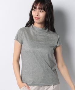 【洗える】スタンドカラーTシャツ/テレコジャージー