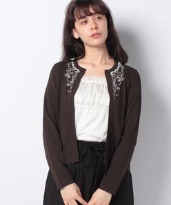 【アンサンブル対応】ANA ビーズ刺繍 ニットカーディガン