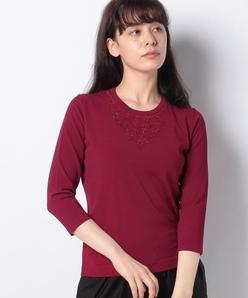 【アンサンブル対応】ANA ビーズ刺繍 ニットプルオーバー