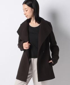 ウールミドル丈コート