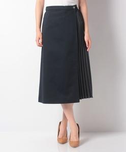 【TV着用】ハードチノ×サテンプリーツ フレアースカート