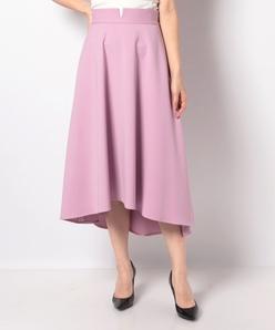 【洗える】ダブルクロス フレアスカート