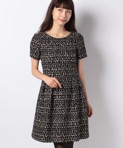 ファンシーツィードドレス