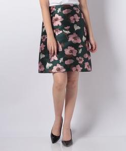 花柄ジャカード スカート