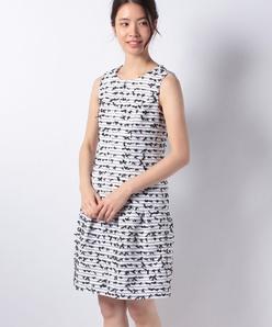 【セットアップ対応】ファンシーツィード ドレス